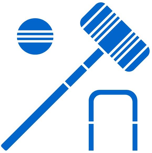 blue croquet icon