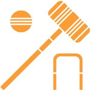 yellow croquet icon