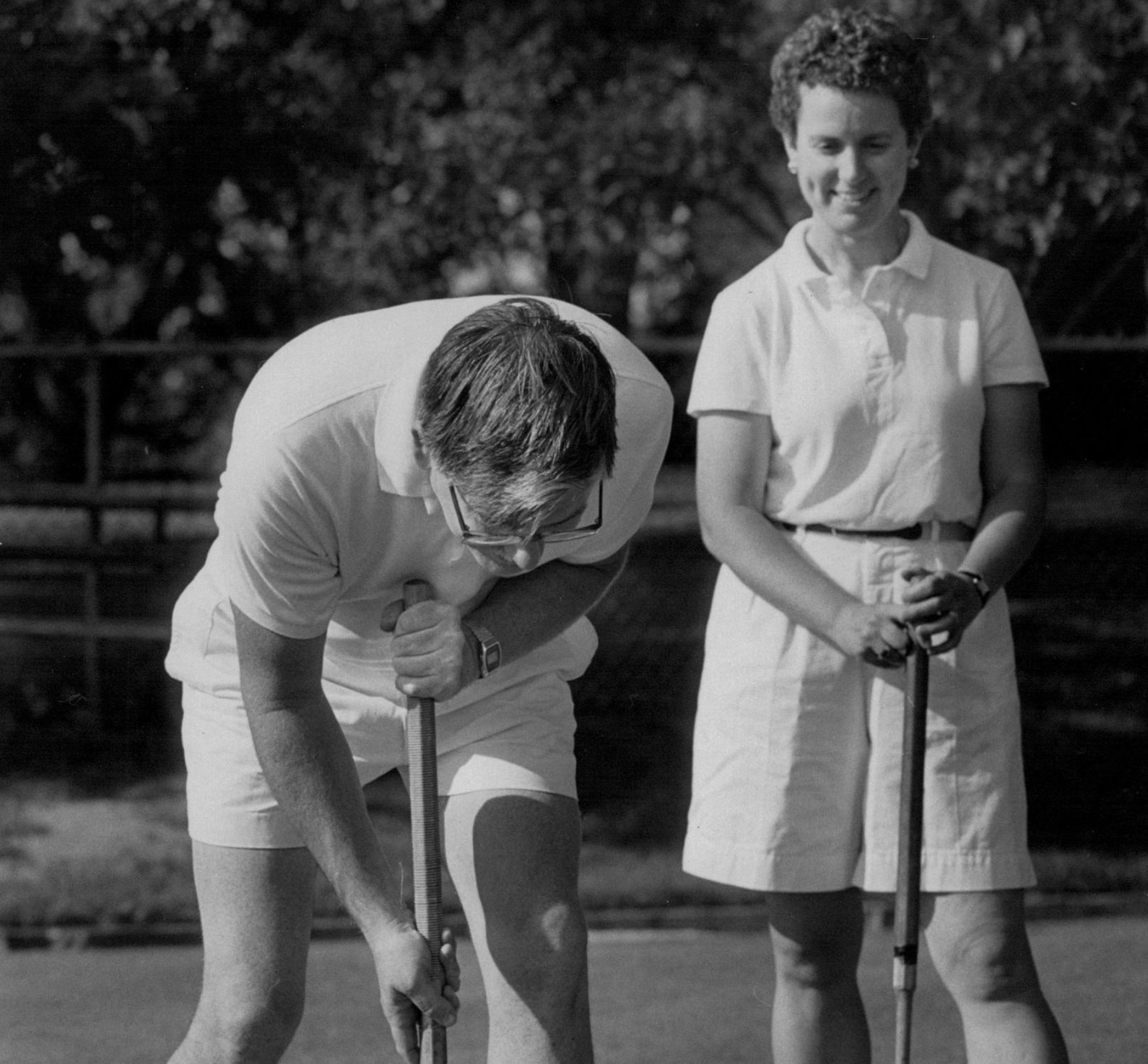 image of croquet players
